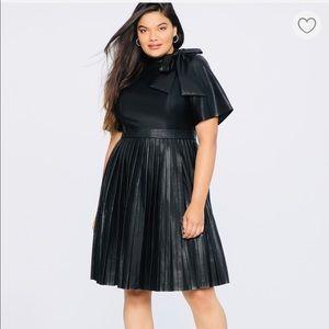 Black Faux Leather Dress-Eloquii